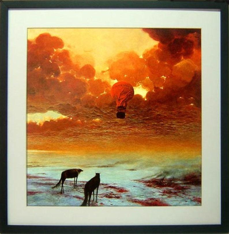 LARGE Framed Beksinski Art Poster Nevermore 22x22 inches ...
