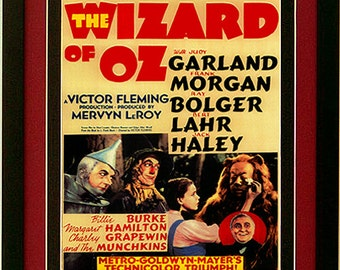 Classic Wizard of Oz Vintage Style Movie Poster Framed 20x14