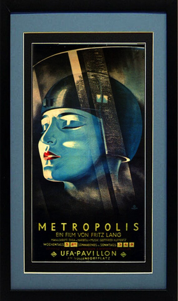 A4 Fritz Lang Cult Fantastic Classic Movie Art Print Deco METROPOLIS Poster A3