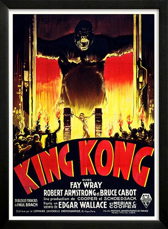 King Kong 1933 Movie Poster High Quality Framing