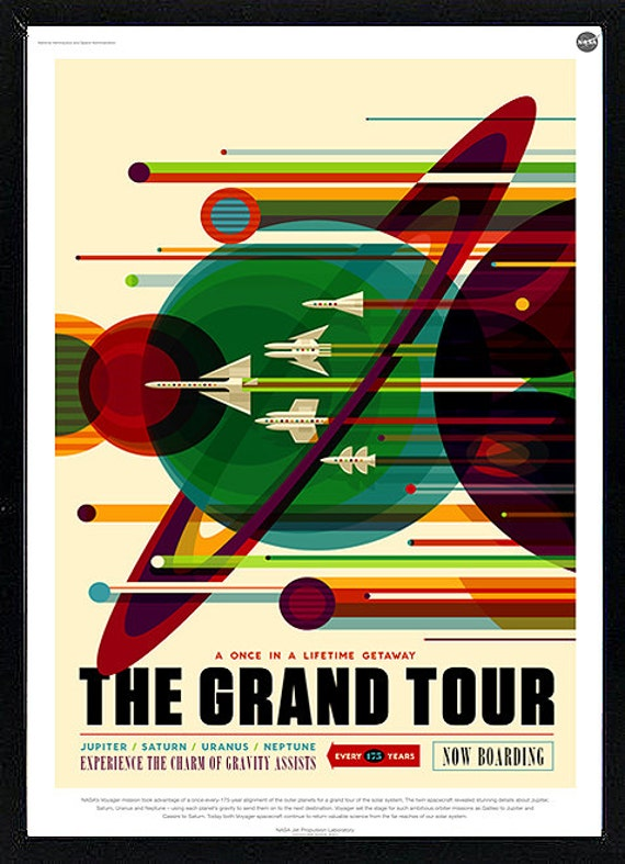 Grand Tour NASA Mission Poster Space Travel Art Print Picture A3 A4