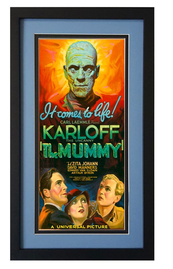 VINTAGE THE MUMMY MOVIE POSTER A3 PRINT