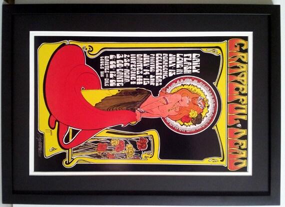 Bob Dylan Concert Poster Custom Framed  18x24 inches