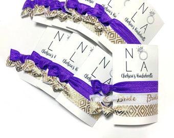 NOLA Bachelorette Party Hair Tie Favors -  New Orleans Bachelorette Party - NOLA Hangover Kit | 2 Hair Ties per Favor*