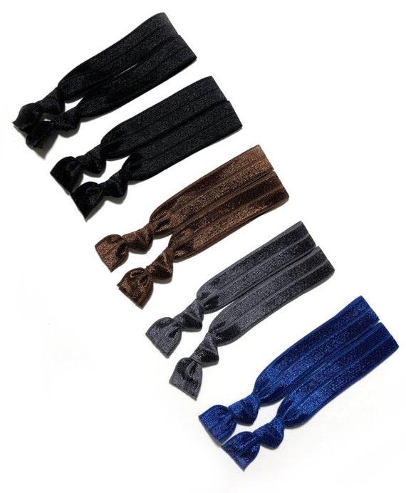 Dark Neutral Hair Ties Set of 10 Ponytail Elastic Holders  5703fb1df7c