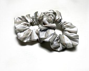 Scrunchie | Gray Striped Hair Scrunchie