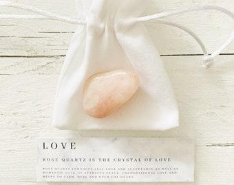 Crystal Wedding Party Favours - Rose Quartz Love Crystal - Unique Wedding Favor - Healing Crystals - Party Gift - Gift of Love - Rose Quartz