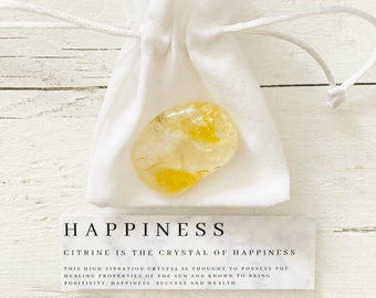Crystal Wedding Party Favours - Citrine Happiness Crystal - Unique Wedding Favor - Healing Crystals - Citrine - Party Gift -