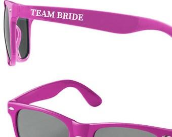 954b1c07bac Personalised TEAM BRIDE Wedding Sunglasses Favours