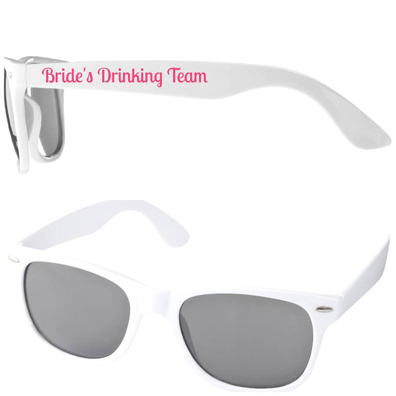 BRIDE'S DRINKING TEAM Hen Party Sunglasses Favours image 0