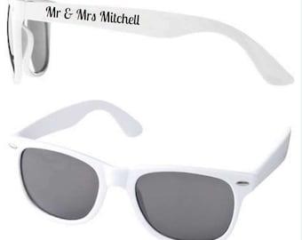 Personalised Wedding Sunglasses Favours (minimum 15 pairs per order)