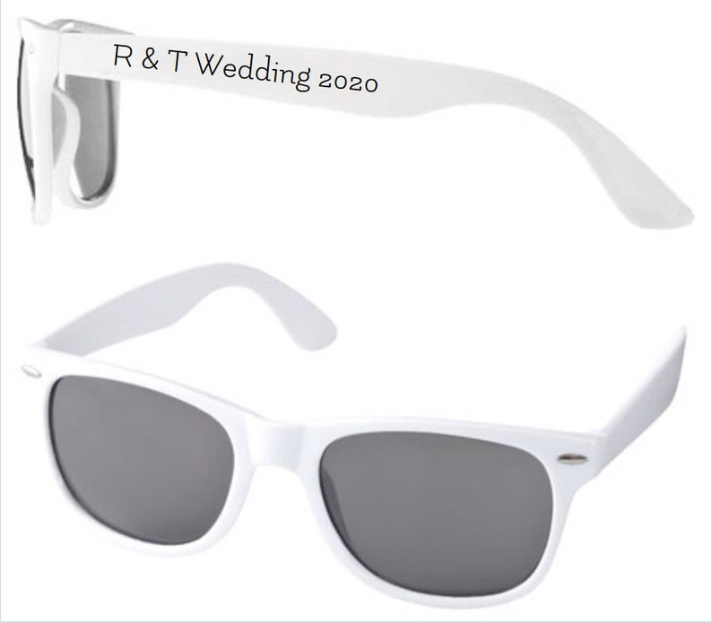 Personalised Wedding Sunglasses Favours minimum 15 pairs per image 0