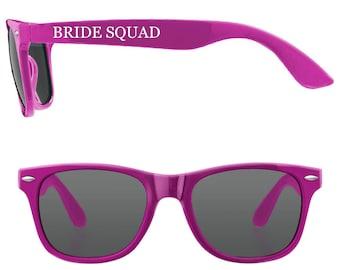 Personalised BRIDE SQUAD Wedding Sunglasses Favours