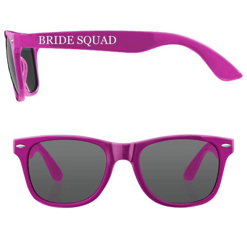 Personalised BRIDE SQUAD Wedding Sunglasses Favours image 0