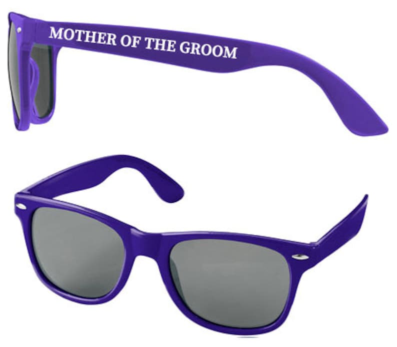 Personalised MOTHER OF GROOM Wedding Sunglasses Favours image 0
