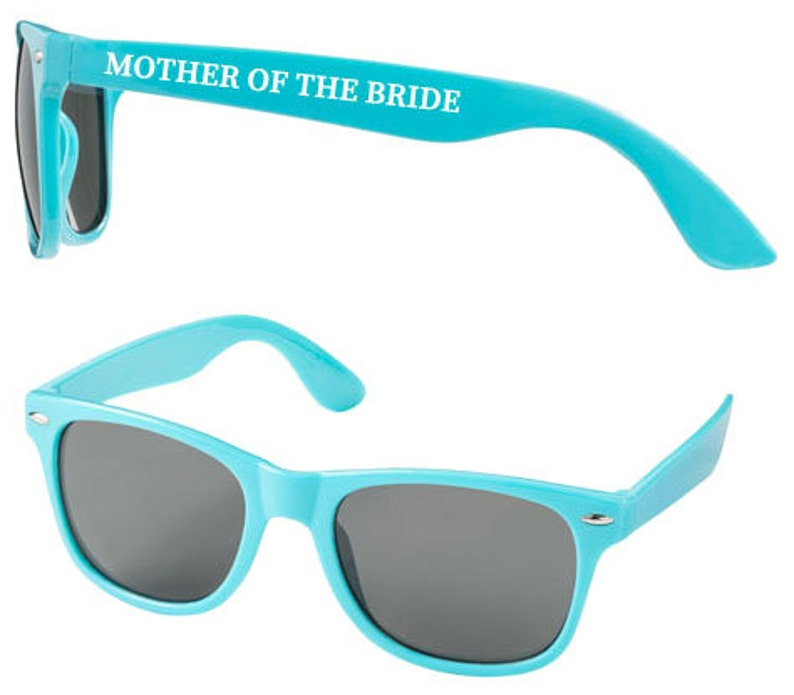 Personalised MOTHER OF BRIDE Wedding Sunglasses Favours image 0