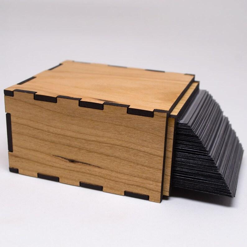 Magic The Gathering Deck Box Simple Blank Deck Box Custom Mtg Card Box Personalized Trading Card Game Box Unique Engraved Tcg Box