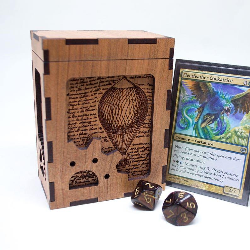 Magic The Gathering Deck Box Steampunk Card Deck Box Custom Mtg Card Box Personalized Trading Card Game Box Unique Engraved Tcg Box