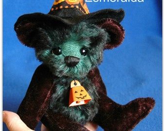 "PDF Pattern - Esmeralda 9"" Halloween Witch Teddy Bear"