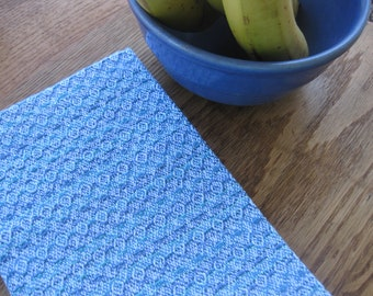 Blue, Teal, and Green Handwoven Towel