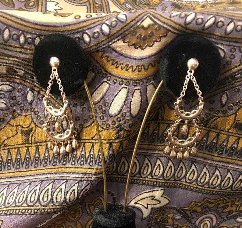 made in Canada Sterling Silver Bohemian Chandelier Earrings Pierced Earrings