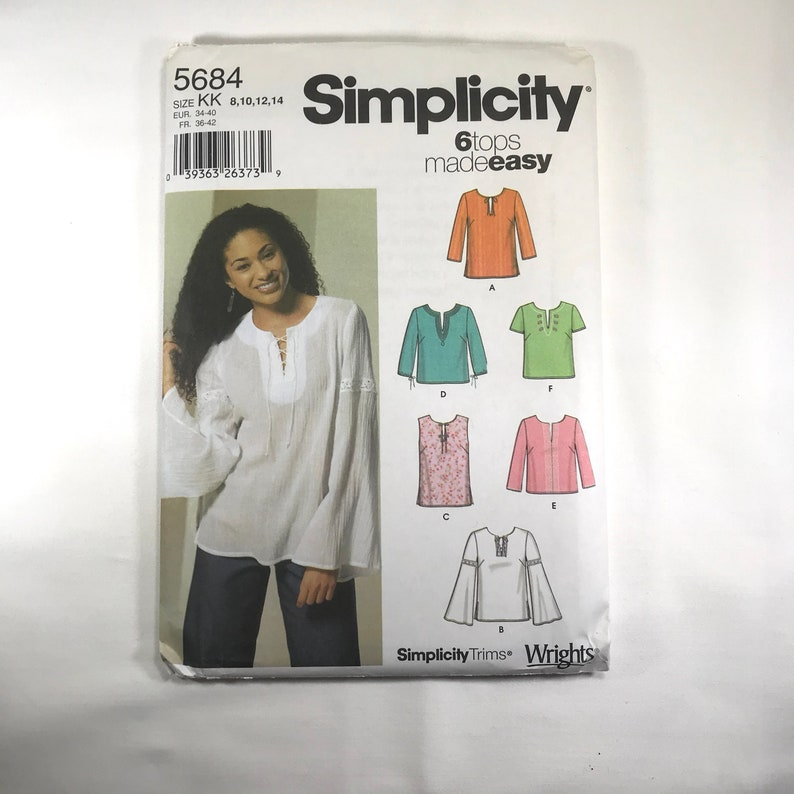 Misses Casual Tunic Top with Sleeve Variations Open or Tie image 0