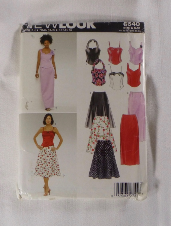 e64ba1e9ea NEW LOOK 6340 Szs 8 18 Pattern for 3 Camisole Tops and 2