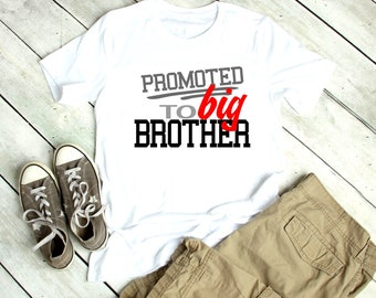 fa5444a4 Big Brother shirt | Promoted to big brother | T-shirt One piece Bodysuit |  Pregnancy announcement | Big Bro | I'm going to be a big brother
