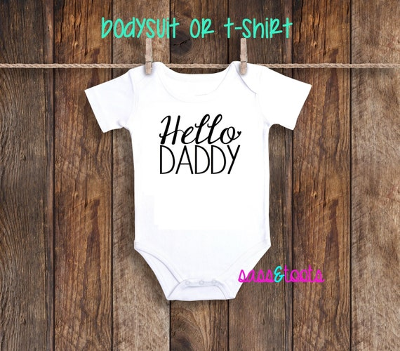 Pregnancy Baby Kids Announcement Baby Vest Grow Bodysuit Daddy/'s Girl
