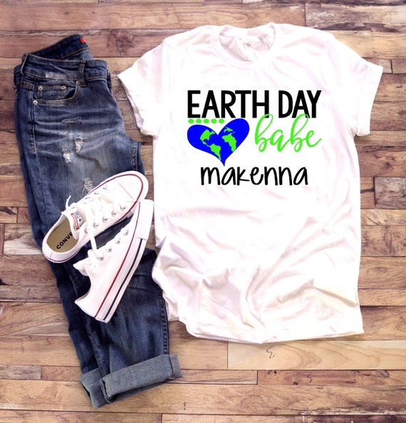 Earth Day shirt | Earth Day Babe | T shirt one piece bodysuit | Recycle | Earth day cleanup | Personalized name custom | little girl