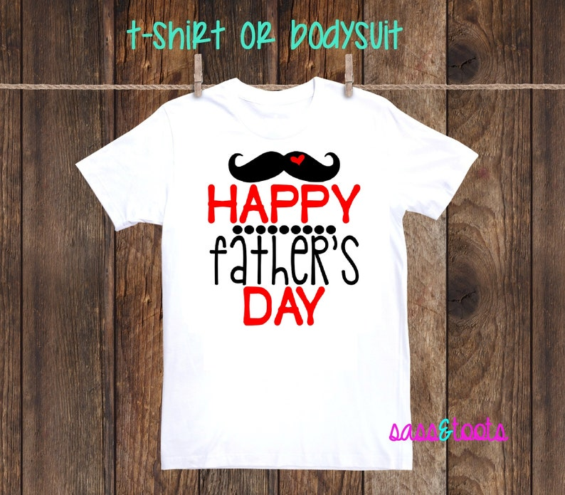 51b868af Happy Fathers Day Mustache Boy Girl Daddy Fathers Day Gift Dad | Etsy