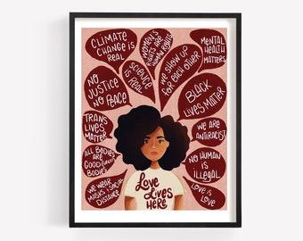 Love Lives Here Print/Poster (Unframed)