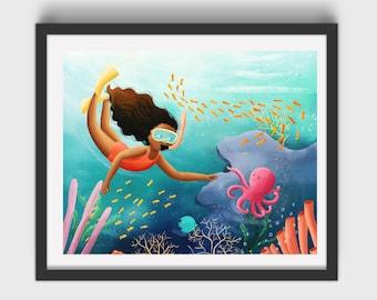 Under the Sea Art Print/Poster