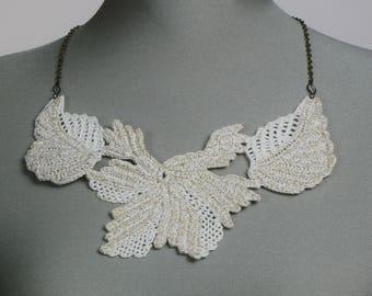 Irish Crochet Necklace