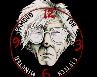 Andy Warhol's Famous for Fifteen Minutes Clock