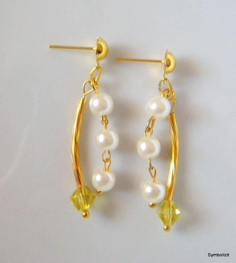 990f9f2dc4a1 Pendientes de Perlas Pendientes Dorados Pendientes Perlas