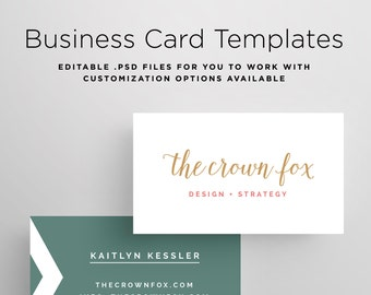 Business Card Template, Printable Design Business Card, Customizable Business Card Template, Custom Business Card, PSD Template, Photoshop