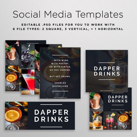 social media graphic templates template graphics etsy