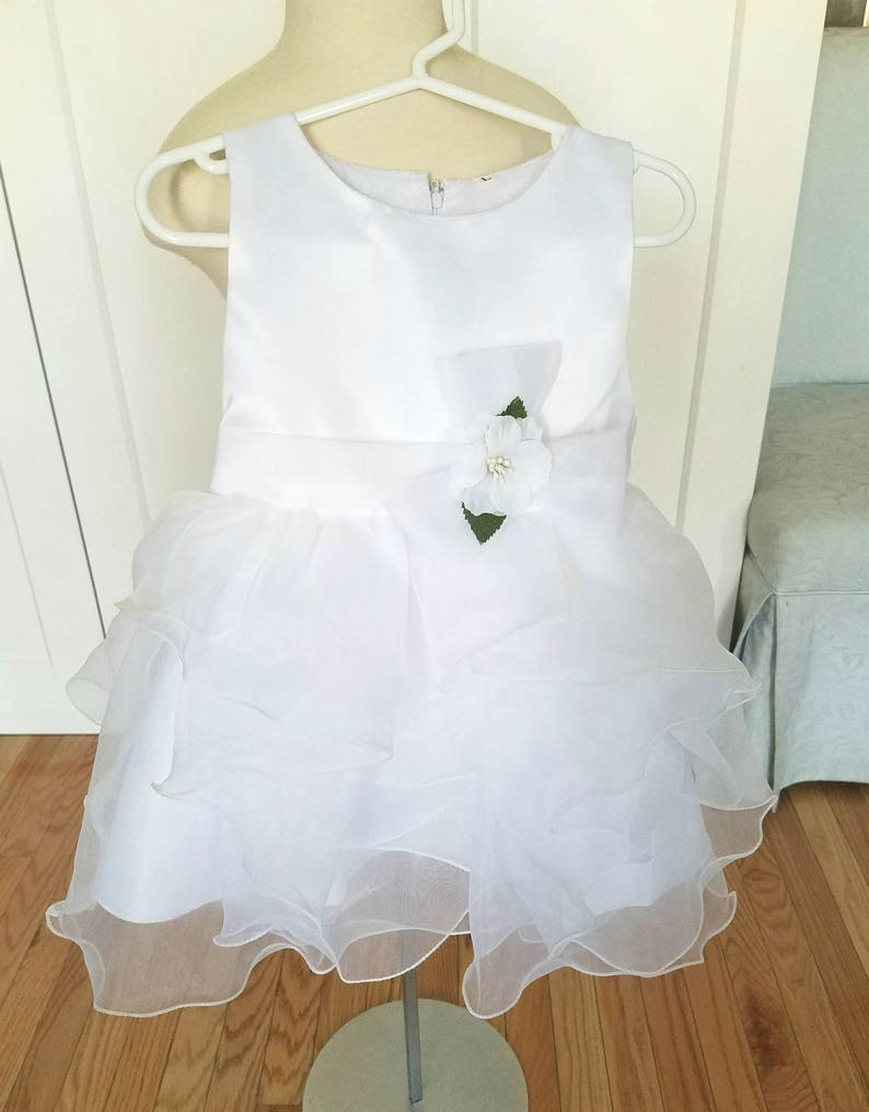 White Girls Christening Gown Baby Girl Baptism Dress Birthday Party Dress Flower Girl Dress