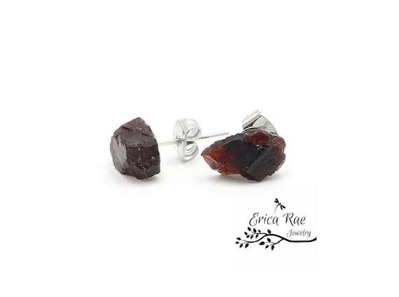 January Birthstone Size 7 Rough Garnet Raw Garnet Gemstone Crystal Ring Jewellery For Mother Garnet Rock Electroformed Rings Sterling Silver