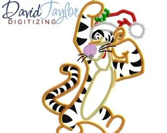 2dac61238b1b6 Christmas Tigger Santa Hat - 4x4