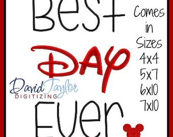 Best Day Ever Rapunzel Tangled Adventure Embroidery Design 4x4 5x7 6x10 7x10  9 formats-Applique Instant Download-DTDigitizing