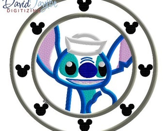 Porthole Stitch - 4x4, 5x7 and 6x10 in 7 formats - Applique - Instant Download - David Taylor Digitizing