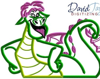 Pete's Dragon Elliott - 4x4, 5x7, 6x10 and 7x10 in 9 formats - Applique - Instant Download - David Taylor Digitizing