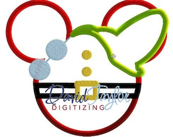 Mickey Head - Doc - Embroidery Machine Design - Applique - Instant Download - David Taylor Digitizing