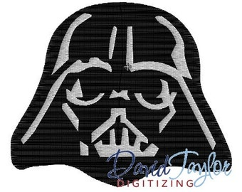 Darth Vader - Embroidery Machine Design - Instant Download - David Taylor Digitizing