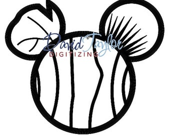 Mickey Head - Finding Nemo - Nemo - Embroidery Machine Design - Applique - Instant Download - David Taylor Digitizing