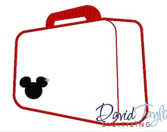 Suitcase - Embroidery Machine Design - 4x4, 5x7 and 6x10!!!  - Applique - Instant Download - David Taylor Digitizing