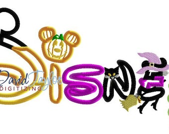 Disney - Halloween - Embroidery Machine Design - Applique - Instant Download - David Taylor Digitizing