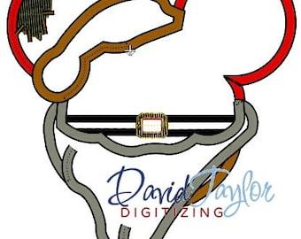 Mickey Head - Grumpy - Embroidery Machine Design - Applique - Instant Download - David Taylor Digitizing